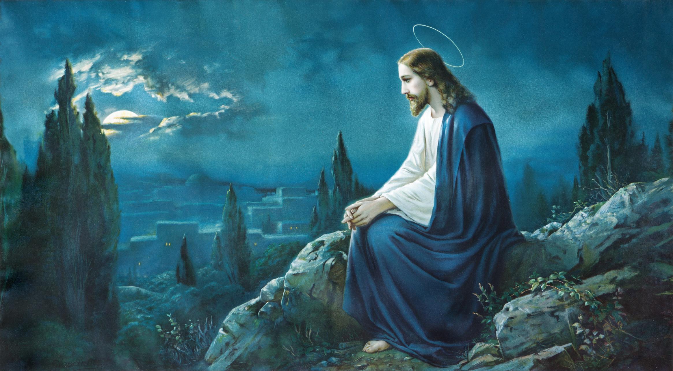 Prayer of Jesus in the Gethsemane garden.